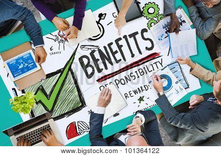 Benefits Responsibility Rewards Goal Skill Satisfaction Concept
