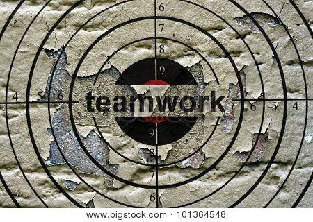 Teamwork Target Grunge Concept