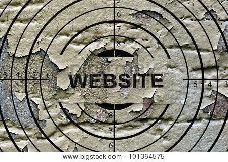Website Target Grunge Concept