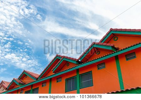 Orange And Green Townhouse