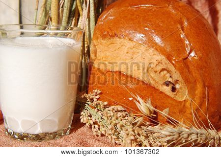 yogurt and bread
