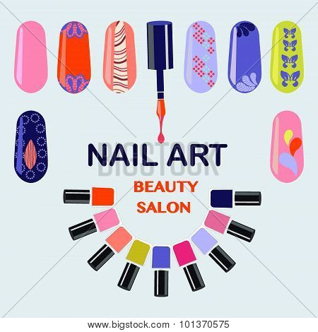 . Nails Art Beauty Salon Background