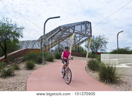 Aviation Bikeway And Rattlesnake Bridge, Tucson, Arizona