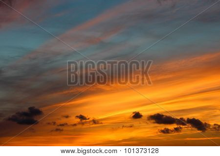 Striated Colorful Sunset