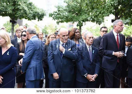 Rudy Giuliani, Mike Bloomberg & Bill de Blasio