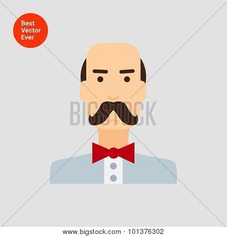 Moustached man  portrait