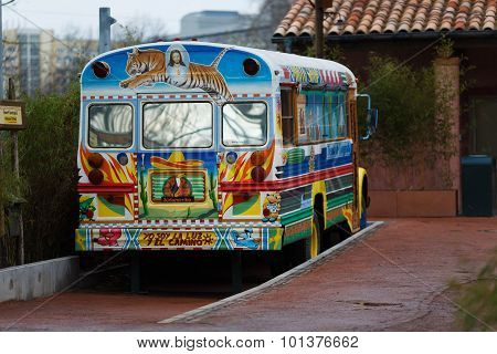 Colorful Painted Bus Of Leipzig Zoo