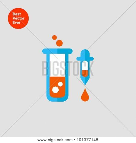 Test tube and pipette