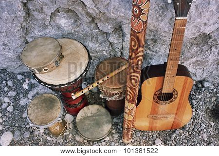Ethnic Acoustic Musical Instruments