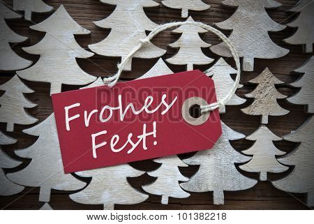 Red Label Frohes Fest Means Merry Christmas