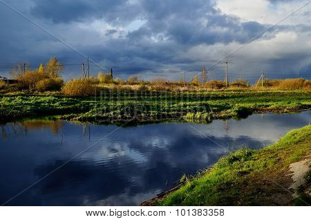 Autumn Industrial Landscape