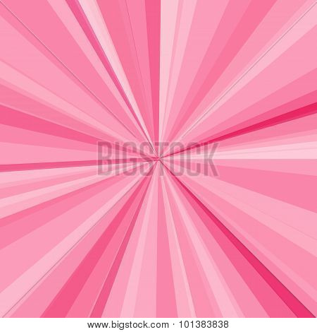 Pink rays background.  illustration for your bright beams design