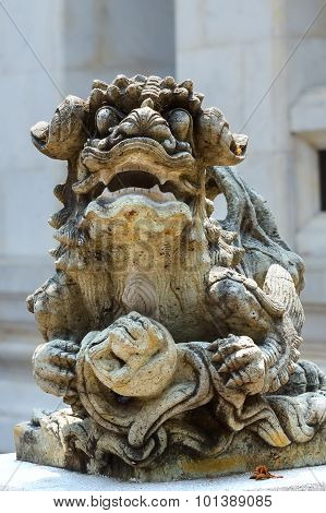 Stone Sculpture Of A Dragon