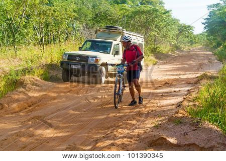 Man On The Bicycle In Tanzania