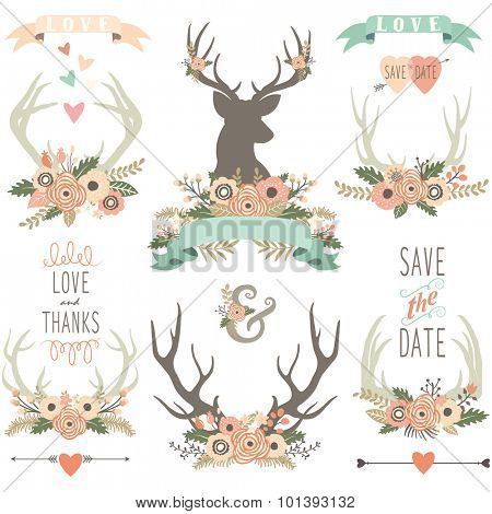 Vintage Floral Antlers Collections