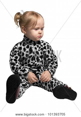 Little Girl Dressed As A Dalmatian