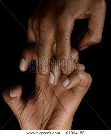 Nice Image of afro american Woman Hands