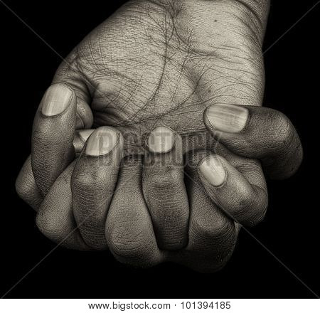 Hands of a Afro American Woman