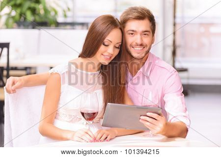 Happy couple relaxing together