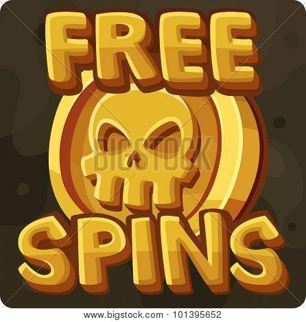 Free spins symbol for slots game. Vector illustration
