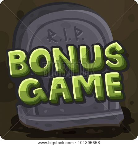 Bonus game symbol for slots game. Vector illustration