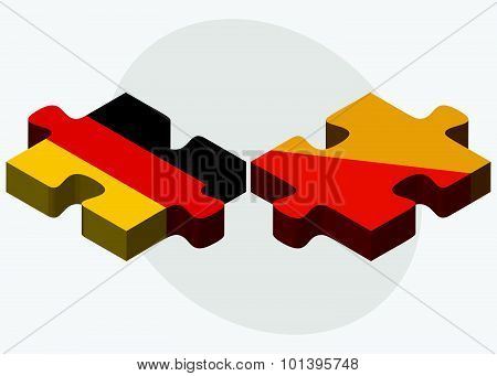 Germany And Bhutan Flags