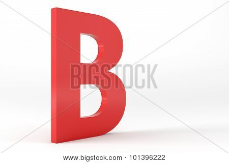Isolated Red Letter B