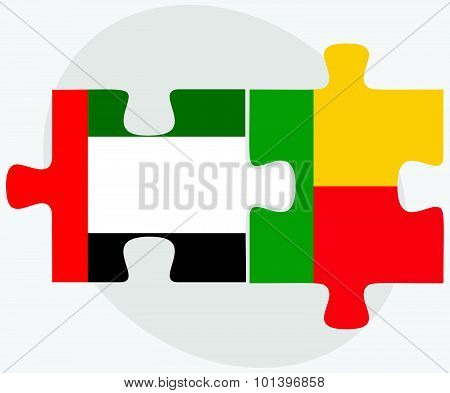 United Arab Emirates And Benin Flags