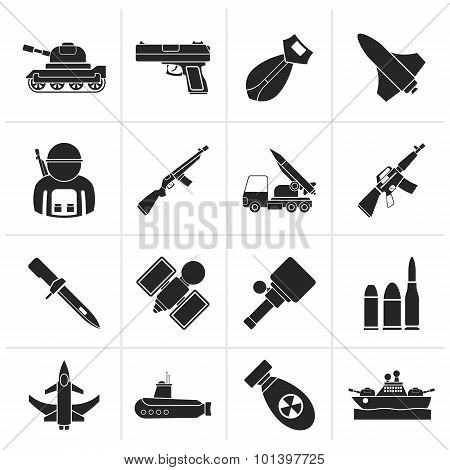 Black Army, weapon and arms Icons