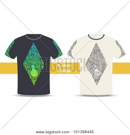 Tshirt Design Alchemical Bottle