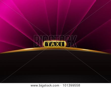vector taxi background