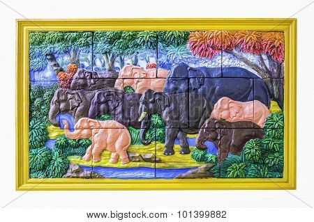 Decoration Elephant Craving Tile