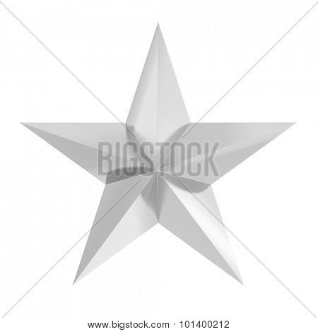 Silver star icon,isolated on white background
