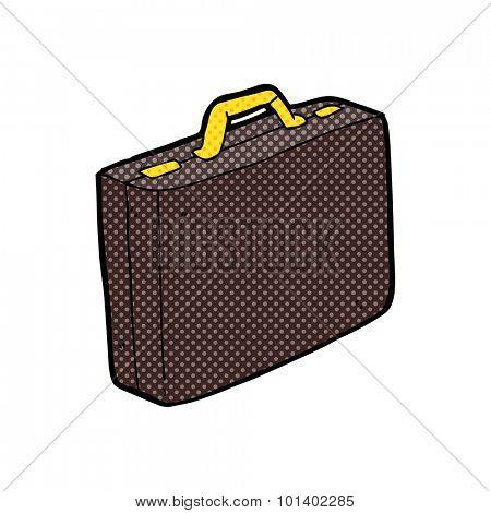 comic book style cartoon briefcase