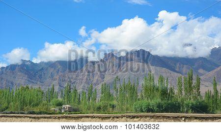 Ladakh Range In North Of India