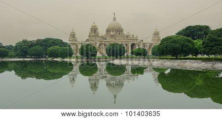 View Of Victoria Memorial In Kolkata