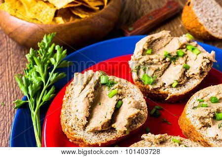 Tapas With Pate, Meat Spreads