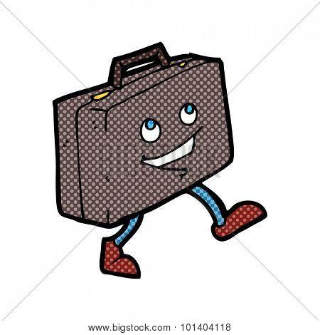 comic book cartoon briefcase