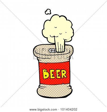 comic book cartoon beer can