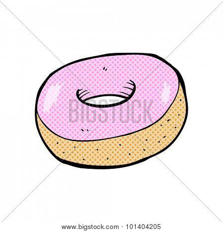 comic book cartoon donut