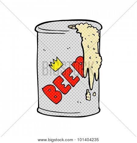 comic book style cartoon beer can