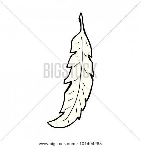 comic book style cartoon feather