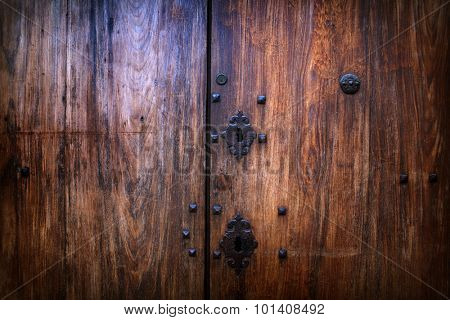 Wooden vintage medieval background