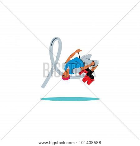 Flyboarding Sign. Vector Illustration.