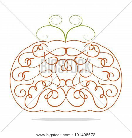 Ornamental Decorative Orange Pumpkin