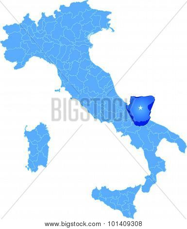 Map Of Italy, Foggia