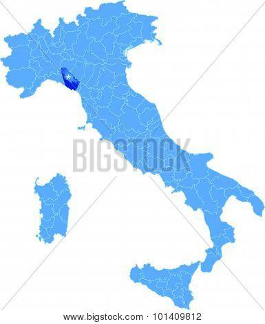 Map Of Italy, La Spezia