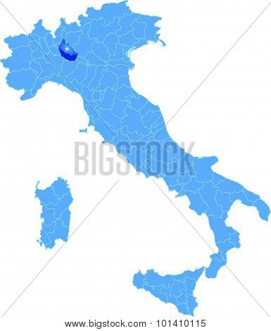 Map Of Italy, Lodi