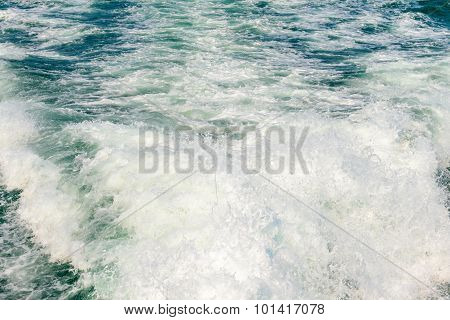 The Wake Of A Boat