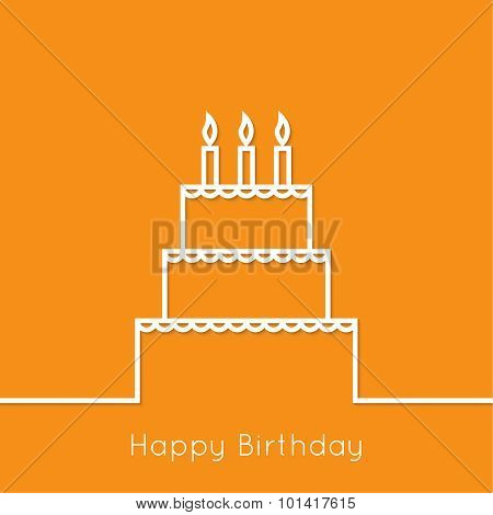 Abstract background with birthday cupcake